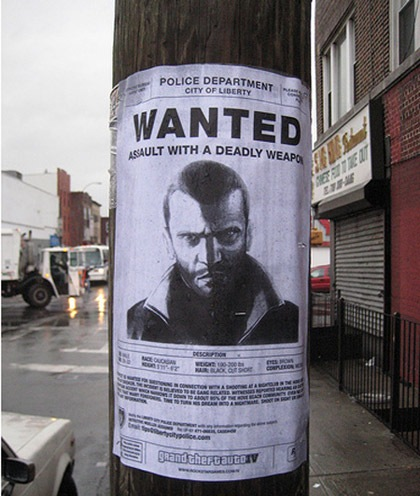 Wanted. Креативная реклама.