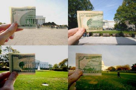 Деньги. Коллаж.