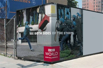 BBC World  - See both sides of the story. Креативная реклама.
