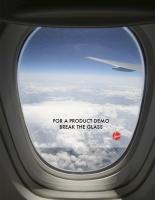 Реклама на иллюминаторе.